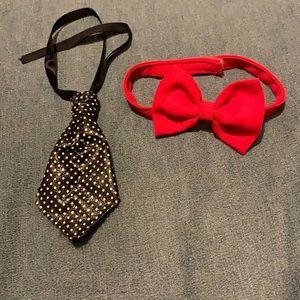 Dog's Tie & Bow Tie Set